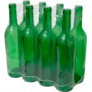 Бутылки для вина 0,75л, зелёные, 8шт